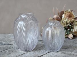 Vas med bladmönster H25 / Ø18 cm klar , hemmetshjarta.se