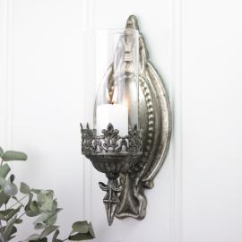 Ljushållare till vägg - antiksilver , hemmetshjarta.se
