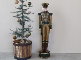 Nötknäppare H160 / L41 / W37 cm antikt guld med grönt , hemmetshjarta.se