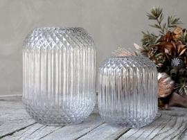 Vas med rutmönster H18 / Ø14 cm klar 1 st , hemmetshjarta.se