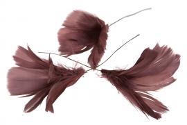 Fjädrar bukett till ris 12- pack - mörkrosa , hemmetshjarta.se