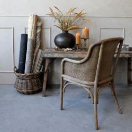 Vecka 28 Gammal Fransk stol med korg H91 / L56.5 / B56 cm natur , hemmetshjarta.se