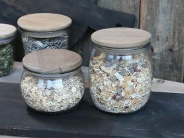 Förvaringsglas med trälock 12,5 cm * , hemmetshjarta.se