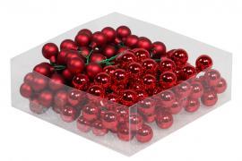 Glaskula.Bas Röd Mix 2cm 144st , hemmetshjarta.se