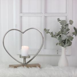.Stående hjärta med ljushållare 35 cm , hemmetshjarta.se