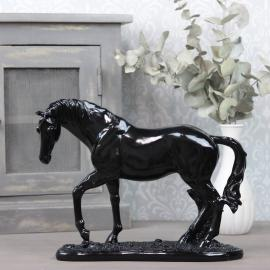 Häst 29x31,8x12,5 cm - blank svart , hemmetshjarta.se