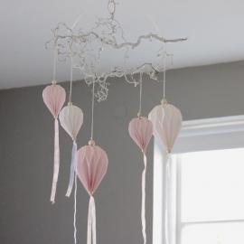 .Vindspel Pappballong med tygremsor 60 cm , hemmetshjarta.se