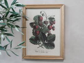 Bild med jordgubbsmotiv & träram H43/L33 cm , hemmetshjarta.se