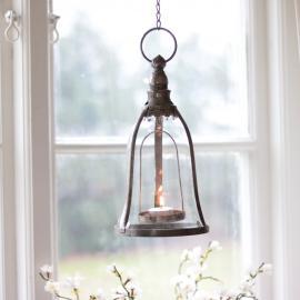 Hängande lamplykta - Antiksilver , hemmetshjarta.se