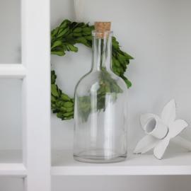 Glasflaska med kork 18 cm , hemmetshjarta.se