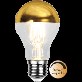 LED-Lampa E27 Top Coated Ø60 Dim lm350/32w Gold , hemmetshjarta.se
