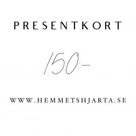 Presentkort 150:- sek , hemmetshjarta.se