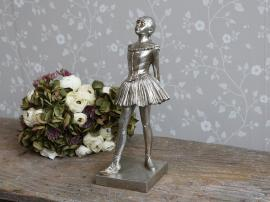 Toulon Ballerina H39 / L17 / B13 cm antik silver , hemmetshjarta.se