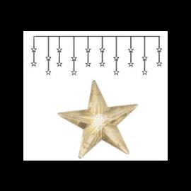 Dekorationsslinga EL Ljusgardin Star Varmvit 20 ljus 180x40cm , hemmetshjarta.se