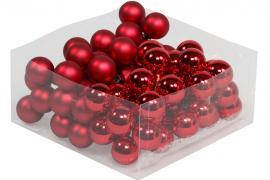 Glaskula.Bas Röd Mix 3cm 72st , hemmetshjarta.se