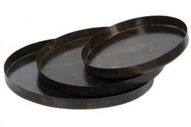Vecka 48 Bricka Tulsa Brun Metall 35x3cm 3-pack , hemmetshjarta.se