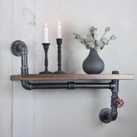 Vägghylla med rör & kran , hemmetshjarta.se
