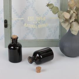 Glasflaska Mörkbrun 150ml 5,7x10,3cm , hemmetshjarta.se