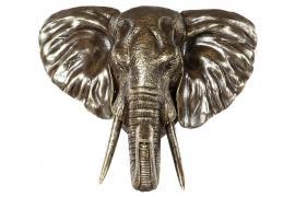 Elefanthuvud/Vägg 56 cm - brun/cham , hemmetshjarta.se