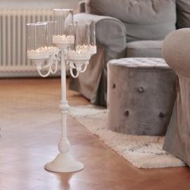 Kandelaber till blockljus Romantisk - Antikvit , hemmetshjarta.se