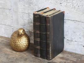Vecka 40 Gl. Franska böcker för dekoration H17,5 / L12 / W8 cm antikbrun , hemmetshjarta.se