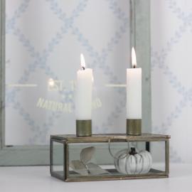 Ljushållare med förvaring 16 cm - antik mässing , hemmetshjarta.se