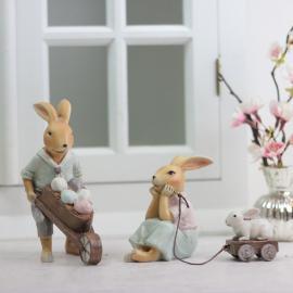 Kaninpar med kärra & vagn , hemmetshjarta.se