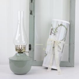 Oljelampa till värmeljus 35 cm - grön ** , hemmetshjarta.se