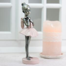 Balettflicka stående - puderrosa , hemmetshjarta.se