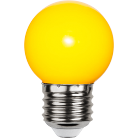 LED-lampa E27 Outdoor Lighting G45 Gul , hemmetshjarta.se
