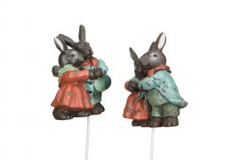 Hare/Stick Old Duo Poly 6cm 2-pack , hemmetshjarta.se