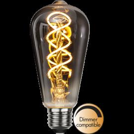 LED-lampa E27 Decoled Spiral Smoke ST64 Dim , hemmetshjarta.se