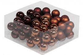 Glaskula.Bas Choklad Mix 3cm 72st , hemmetshjarta.se
