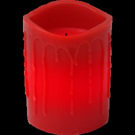 Batteridriven Blockljus LED Drip Röd 7,8x10cm , hemmetshjarta.se
