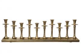 Ljusbricka Metall 70 cm - Antik guld , hemmetshjarta.se