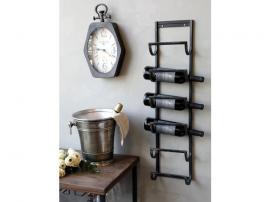 Vinhållare för vägg H85 / L20 / W11 cm antik svart , hemmetshjarta.se