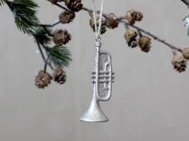 Trumpet med glitter Poly H8 / Ø3 cm champagne 4-pack , hemmetshjarta.se