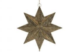Adventsstjärna belysning 85 cm - mörk guld , hemmetshjarta.se