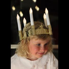 Santa Lucia Luciakrona Guld , hemmetshjarta.se