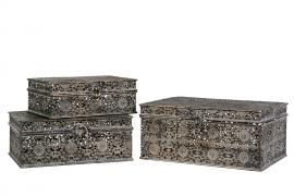 Box/Metal G.Brun 28x22x13cm 3-pack , hemmetshjarta.se