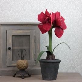 Konstgjord Amaryllis 45 cm , hemmetshjarta.se