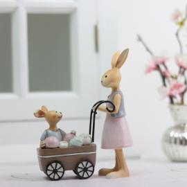 Kaninmamma med barnvagn , hemmetshjarta.se