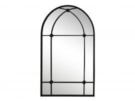 Spegel med båge Järn H100 / L60 / B2 cm antik svart , hemmetshjarta.se