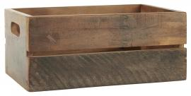 Låda UNIKA 23x15x35,5 cm återvunnet trä , hemmetshjarta.se