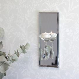 Ljushållare Vägg med spegel 25,5 cm , hemmetshjarta.se