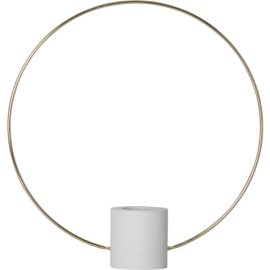 Lampfot E27 Forever Vit/Guld 35x37 , hemmetshjarta.se