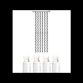 Utomhusdekoration System LED EL Ljusgardin Extra Kallvit 204 ljus 100x400cm , hemmetshjarta.se