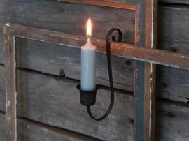 Gammal Fransk Ljusstake för kyrkljus H14 cm antik kol , hemmetshjarta.se