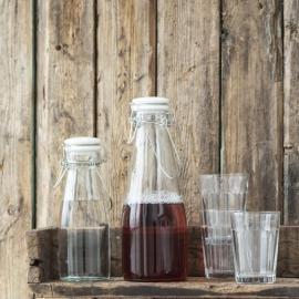 Flaska med vit patentlock 500 ml , hemmetshjarta.se