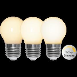 LED-Lampa E27 Ø45 Dim 3-step lm350/34w Frostad Ra90 , hemmetshjarta.se